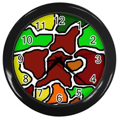 Africa abstraction Wall Clocks (Black)