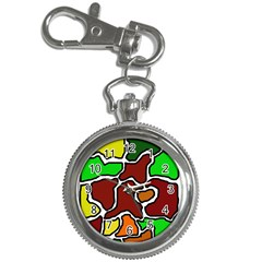 Africa abstraction Key Chain Watches