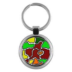 Africa abstraction Key Chains (Round)