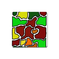 Africa abstraction Square Magnet