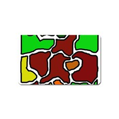 Africa abstraction Magnet (Name Card)