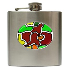 Africa abstraction Hip Flask (6 oz)