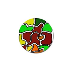Africa abstraction Golf Ball Marker (4 pack)