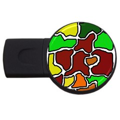 Africa abstraction USB Flash Drive Round (1 GB)