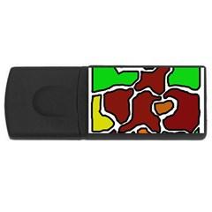 Africa abstraction USB Flash Drive Rectangular (2 GB)