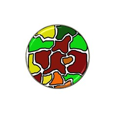 Africa abstraction Hat Clip Ball Marker