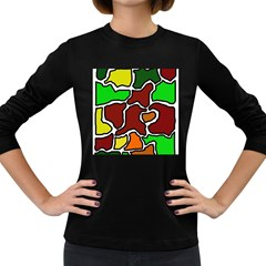 Africa abstraction Women s Long Sleeve Dark T-Shirts