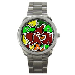 Africa abstraction Sport Metal Watch