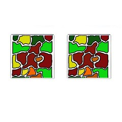 Africa abstraction Cufflinks (Square)