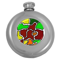 Africa abstraction Round Hip Flask (5 oz)