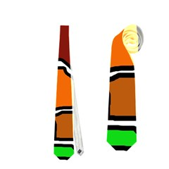 Africa abstraction Neckties (One Side)
