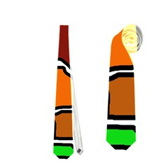 Africa abstraction Neckties (Two Side)