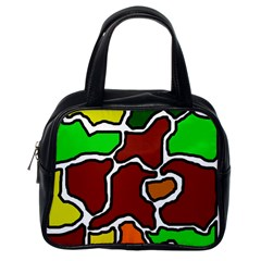 Africa abstraction Classic Handbags (One Side)