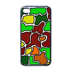 Africa abstraction Apple iPhone 4 Case (Black)