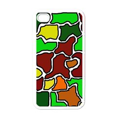 Africa abstraction Apple iPhone 4 Case (White)