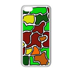 Africa abstraction Apple iPhone 5C Seamless Case (White)