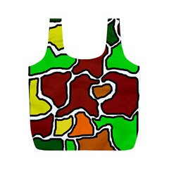 Africa abstraction Full Print Recycle Bags (M)