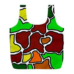 Africa abstraction Full Print Recycle Bags (L)