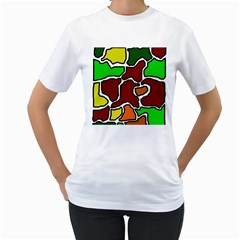 Africa abstraction Women s T-Shirt (White)