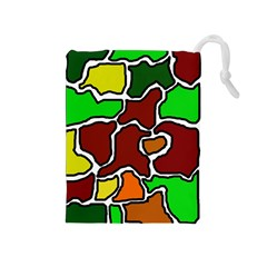 Africa abstraction Drawstring Pouches (Medium)