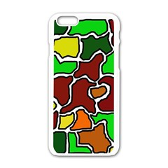 Africa abstraction Apple iPhone 6/6S White Enamel Case