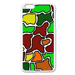 Africa abstraction Apple iPhone 6 Plus/6S Plus Enamel White Case