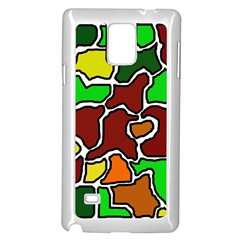 Africa abstraction Samsung Galaxy Note 4 Case (White)