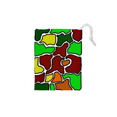 Africa abstraction Drawstring Pouches (XS)