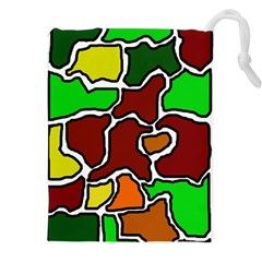 Africa abstraction Drawstring Pouches (XXL)