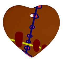 Brown abstraction Ornament (Heart)