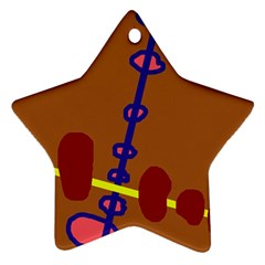 Brown abstraction Ornament (Star)