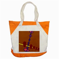 Brown abstraction Accent Tote Bag