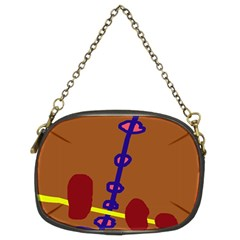Brown abstraction Chain Purses (Two Sides)