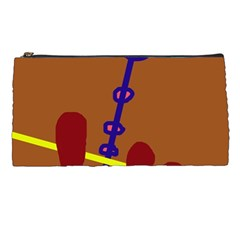 Brown abstraction Pencil Cases