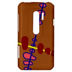 Brown abstraction HTC Evo 3D Hardshell Case