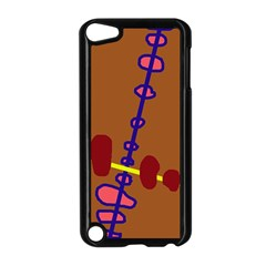 Brown abstraction Apple iPod Touch 5 Case (Black)