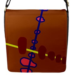 Brown abstraction Flap Messenger Bag (S)