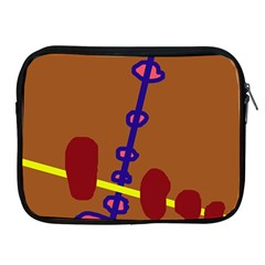 Brown abstraction Apple iPad 2/3/4 Zipper Cases
