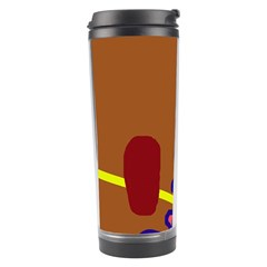 Brown abstraction Travel Tumbler