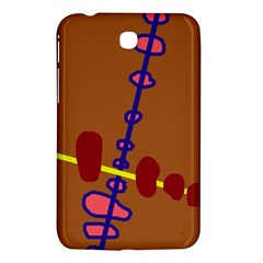 Brown abstraction Samsung Galaxy Tab 3 (7 ) P3200 Hardshell Case