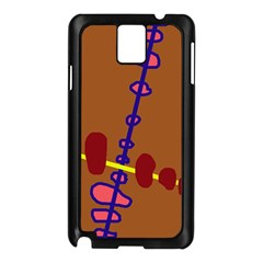 Brown abstraction Samsung Galaxy Note 3 N9005 Case (Black)
