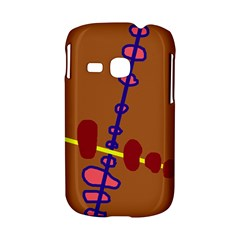 Brown abstraction Samsung Galaxy S6310 Hardshell Case