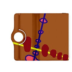 Brown abstraction Kindle Fire HDX 8.9  Flip 360 Case
