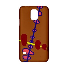 Brown abstraction Samsung Galaxy S5 Hardshell Case
