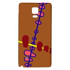 Brown abstraction Galaxy Note 4 Back Case