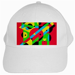 Colorful geometrical abstraction White Cap