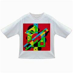 Colorful geometrical abstraction Infant/Toddler T-Shirts