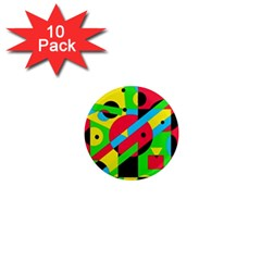 Colorful geometrical abstraction 1  Mini Magnet (10 pack)