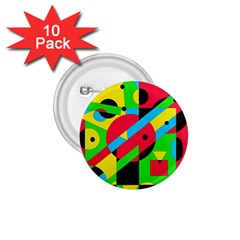 Colorful geometrical abstraction 1.75  Buttons (10 pack)
