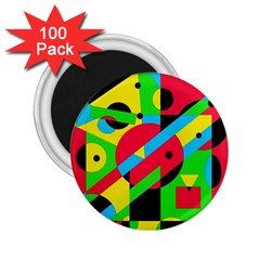 Colorful geometrical abstraction 2.25  Magnets (100 pack)